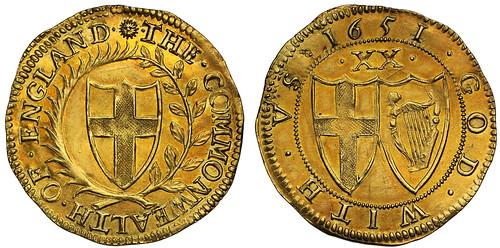 1651 Commonwealth Gold Unite