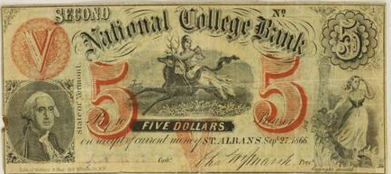 Second National College Bank note