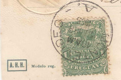 South African coinage postcard back