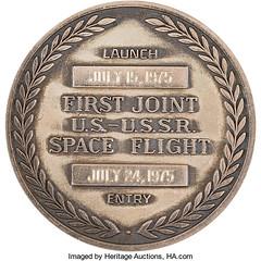 Apollo-Soyuz Test Project Medal reverse