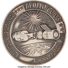 Apollo-Soyuz Test Project Medal obverse