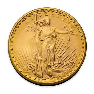Farouk 1933 Double Eagle obverse