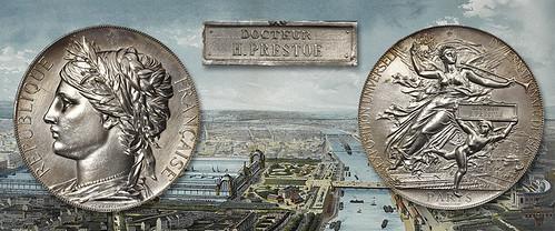 1878 International Exposition Award Medal