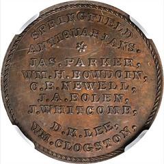 Bolen Springfield Antiquarians Medal reverse
