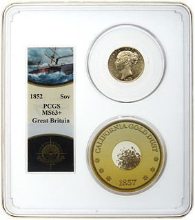 Front of a special PCGS SSCA holder