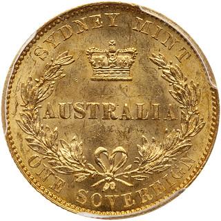 1855 Australia Sovereign reverse