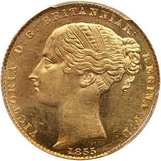 1855 Australia Sovereign obv.
