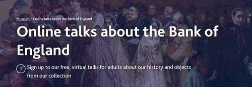 Online talks about the Bank of England