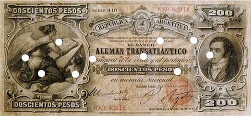 Banco Alemán Transátlantico, 200 Pesos