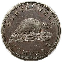 1820 North West Co. Token reverse