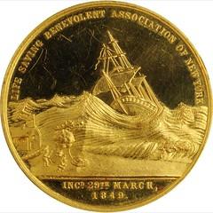 1902 Life Saving Benevolent Association of New York Medal obverse