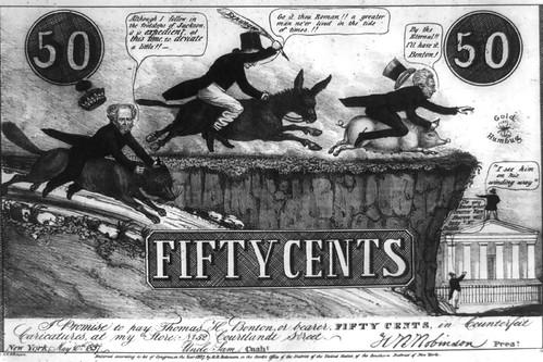 Specie payment suspension cartoon