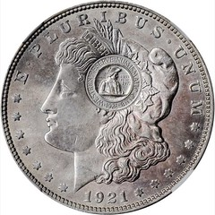 1971 Western Reserve Numismatic Club Countermark obverse