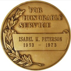1973 CIA Honorable Service Medal reverse