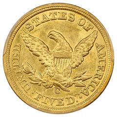 1859-C Half Eagle reverse