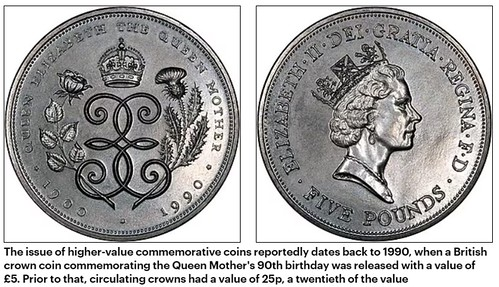 Queen Mother's 90th birthday five pounds