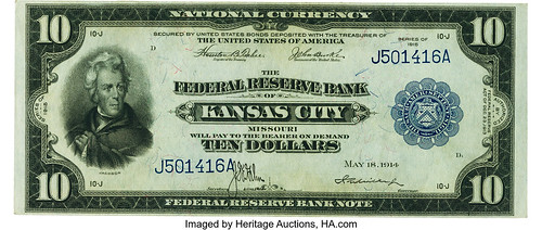 $10 1915 Federal Reserve Bank Note
