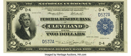 $2 1918 Federal Reserve Bank Note