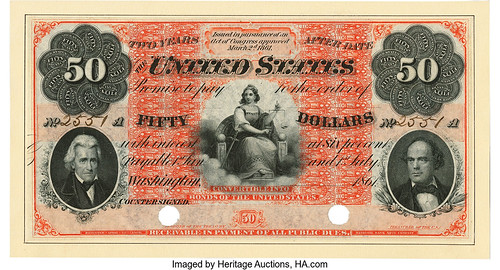 1861 Two-Year 6% Interest Bearing Note $50