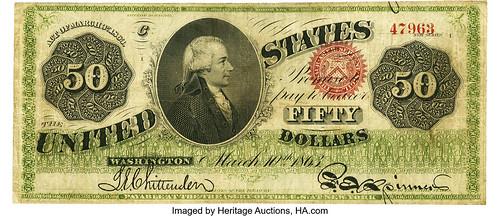 1863 Legal Tender $50