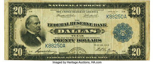 $20 1915 Federal Reserve Bank Note
