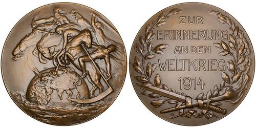 Four Horsemen Propaganda bronze Medal