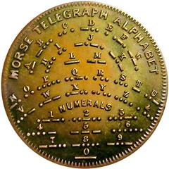 Chubbuck Morse Code Telegraph Token reverse