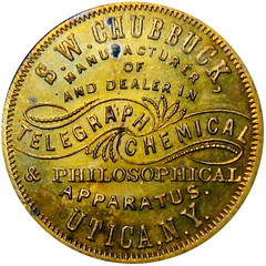 Chubbuck Morse Code Telegraph Token obverse