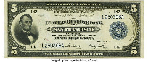 $5 1918 Federal Reserve Bank Note