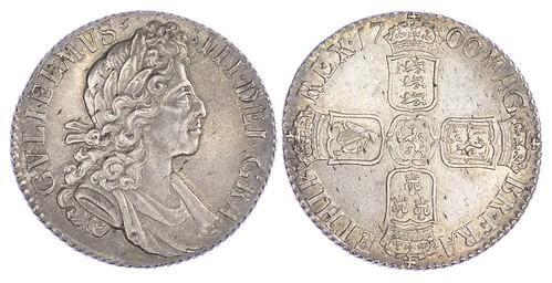1700 William III Shilling