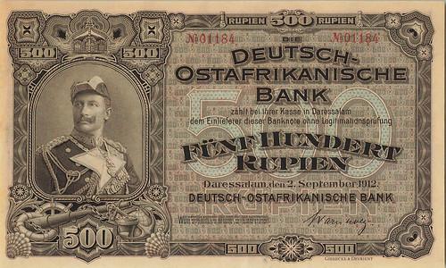1912 German East Africa 500 Rupien
