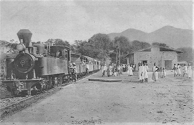 Mombo train station in German East Africa