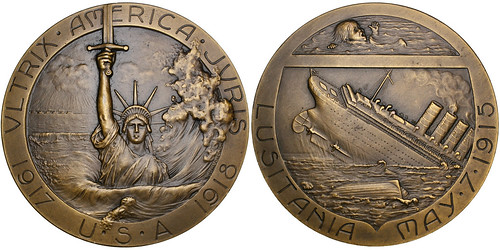 Sinking of the Lusitania Bronze Medal