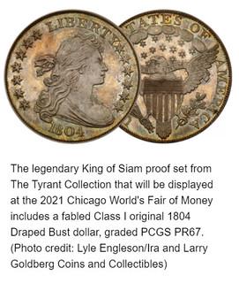 Tyrant King of Siam 1804 Dollar