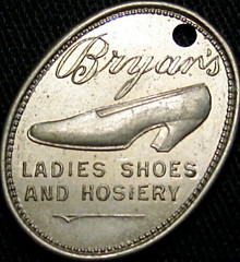 Bryan's Ladies Shoes Charge Coin obverse