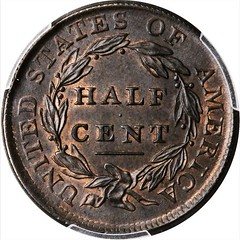 1809 over inverted 9 Half Cent reverse