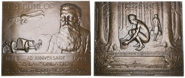 John Boyd Dunlop bronze Plaque