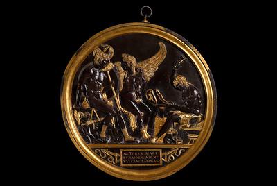 15th century bronze roundel of Venus