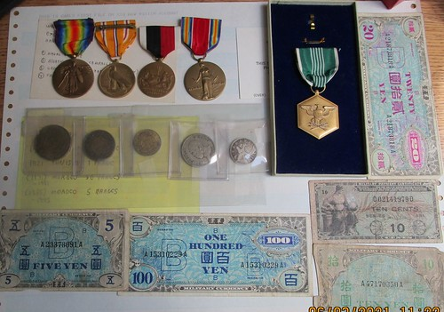 Military medals and items
