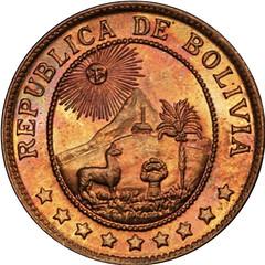 I942 Bolivia 50 Centavos obverse
