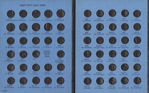 Whitman Half Dime folder W5cA1 detail 1s