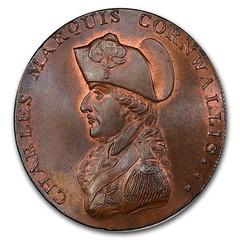 1794 Suffolk Bury Penny Conder Token obverse