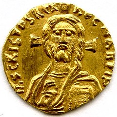 Justinian II Gold tremissis