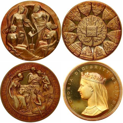 Canadian Confederation Centennial Gold Medals