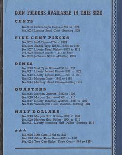 Whitman Half Dime folder W5cA1 detail 2s