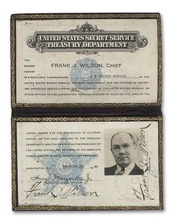 1933 Double Eagle Frank Wilson badge