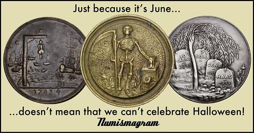 E-Sylum Numismagram ad44 Halloween in June