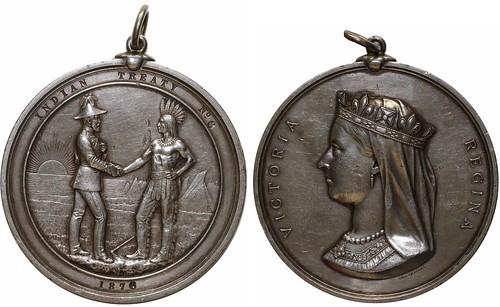 1876 Indian Treaty No. 6 Silver Medal