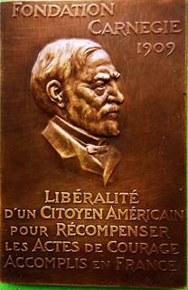 1931 French Carnegie Hero Medal reverse