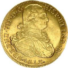 1812 Colombia Ferdinand VII Gold 8 Escudos obverse